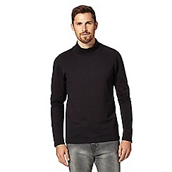Red Herring - Black jersey roll neck top