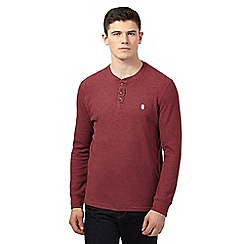 St George by Duffer - Big and tall dark red waffle jumper