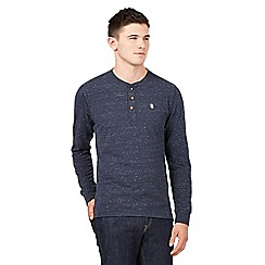 St George by Duffer - Big and tall navy neppy grandad top