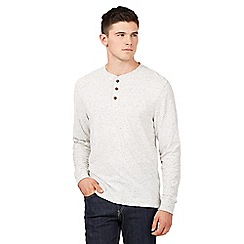 St George by Duffer - Big and tall dark cream grandad top
