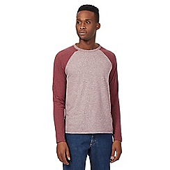Red Herring - Big and tall dark red raglan top