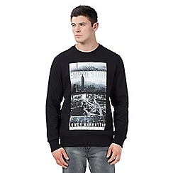 Red Herring - Black 'Empire State' crew neck jumper