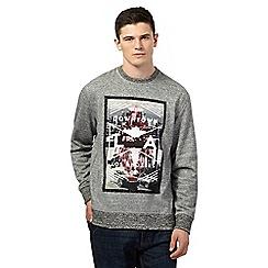 Red Herring - Grey photo print  jumper