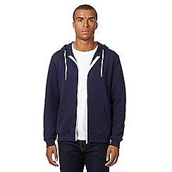 Red Herring - Navy quilted hoodie