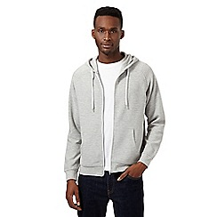 Red Herring - Light grey ribbed hoodie