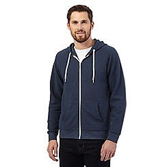 Red Herring - Blue ribbed zip through hoodie