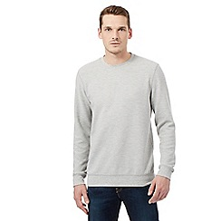 Red Herring - Grey ribbed crew jumper