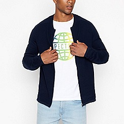 St George by Duffer - Navy cotton twist crew neck jumper