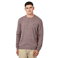 St George by Duffer - Red cotton twist crew neck jumper