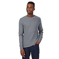Red Herring - Grey basket weave panel jumper
