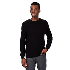 Red Herring - Black textured knit jumper