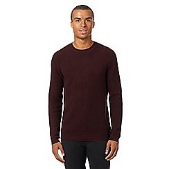 Red Herring - Dark red textured knit jumper