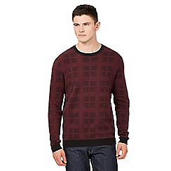 Red Herring - Dark red checked jumper