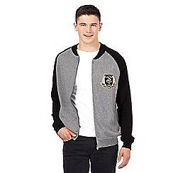 St George by Duffer - Grey twist raglan baseball jacket