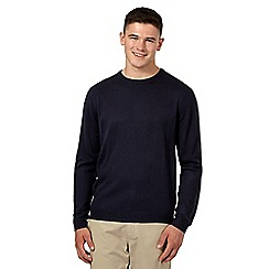 Red Herring - Navy ribbed crew neck jumper