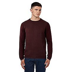 Red Herring - Dark red raglan twist jumper