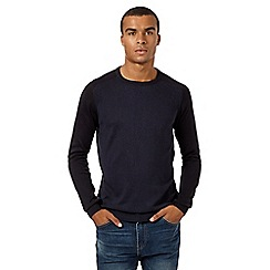 Red Herring - Navy twisted yarn raglan jumper