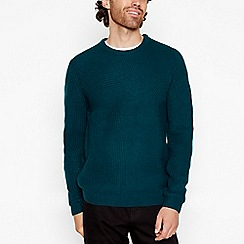 Red Herring - Dark turquoise marl knit acrylic jumper