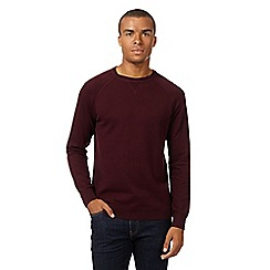 Red Herring - Dark red crew neck jumper