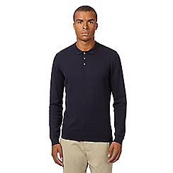 Red Herring - Navy knitted polo top