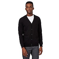 Red Herring - Black plain knit cardigan