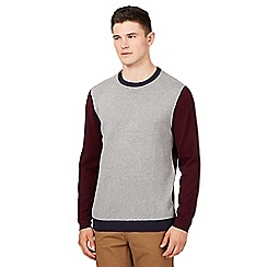 Red Herring - Navy colour block knit jumper