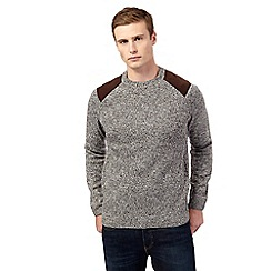 Red Herring - Grey shoulder patch jumper