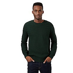 Red Herring - Dark green mixed knit jumper