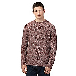 Red Herring - Red rib crew neck jumper