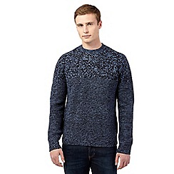 Red Herring - Blue multi texture jumper