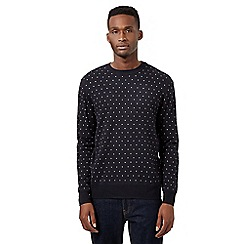 Red Herring - Navy polka dot jumper