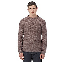Red Herring - Dark red cable knit jumper