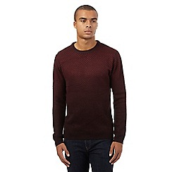 Red Herring - Dark red ombr  effect jumper