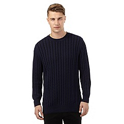 Red Herring - Navy cable knit jumper
