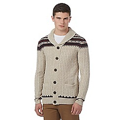 Red Herring - Natural shawl neck cardigan