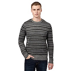 Red Herring - Grey Fair Isle grindle jumper
