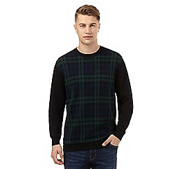 Red Herring - Navy tartan print jumper