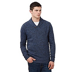 St George by Duffer - Duffer Blue twist front knit jumper
