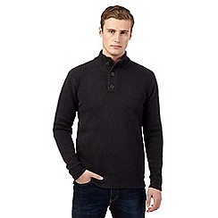 St George by Duffer - Navy wool blend funnel neck jumper