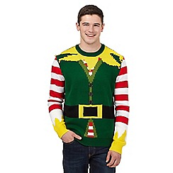 Red Herring - Green elf musical Christmas jumper