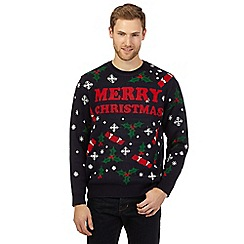 Red Herring - Navy 'Merry Christmas' jumper