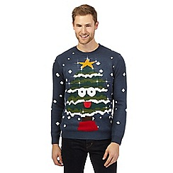 Red Herring - Blue light up Christmas jumper