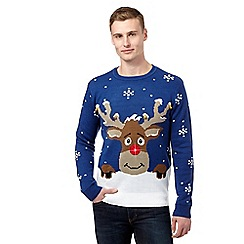 Red Herring - Blue light-up Christmas jumper