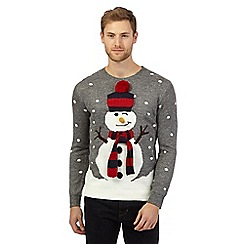 Red Herring - Grey snowman Christmas jumper