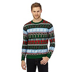 Red Herring - Green vintage Christmas jumper