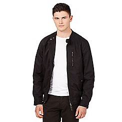 Red Herring - Big and tall black harrington biker jacket