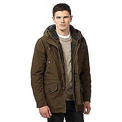Red Herring - Khaki fleece lined parka coat