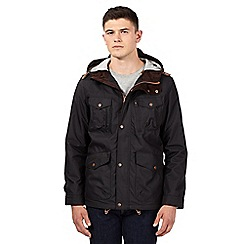 Red Herring - Black hooded hiking jacket