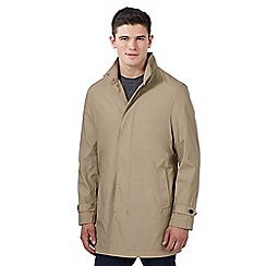 Red Herring - Natural funnel neck mac coat