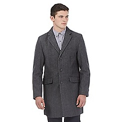 Red Herring - Big and tall grey wool blend epsom jacket